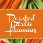Roasted Garlic Hummus. Vegan and Gluten-Free.