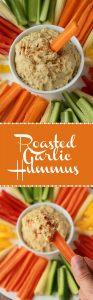 Roasted Garlic Hummus. Vegan and Gluten-Free.