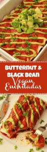 Butternut and Black Bean Vegan Enchiladas