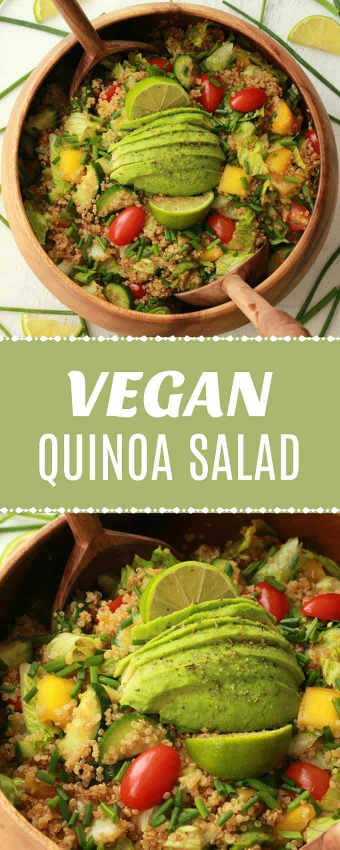 This vegan quinoa salad with sesame soy dressing is bursting with healthy flavor and goodness. Vegan, gluten-free, satisfying and delicious! | lovingitvegan.com