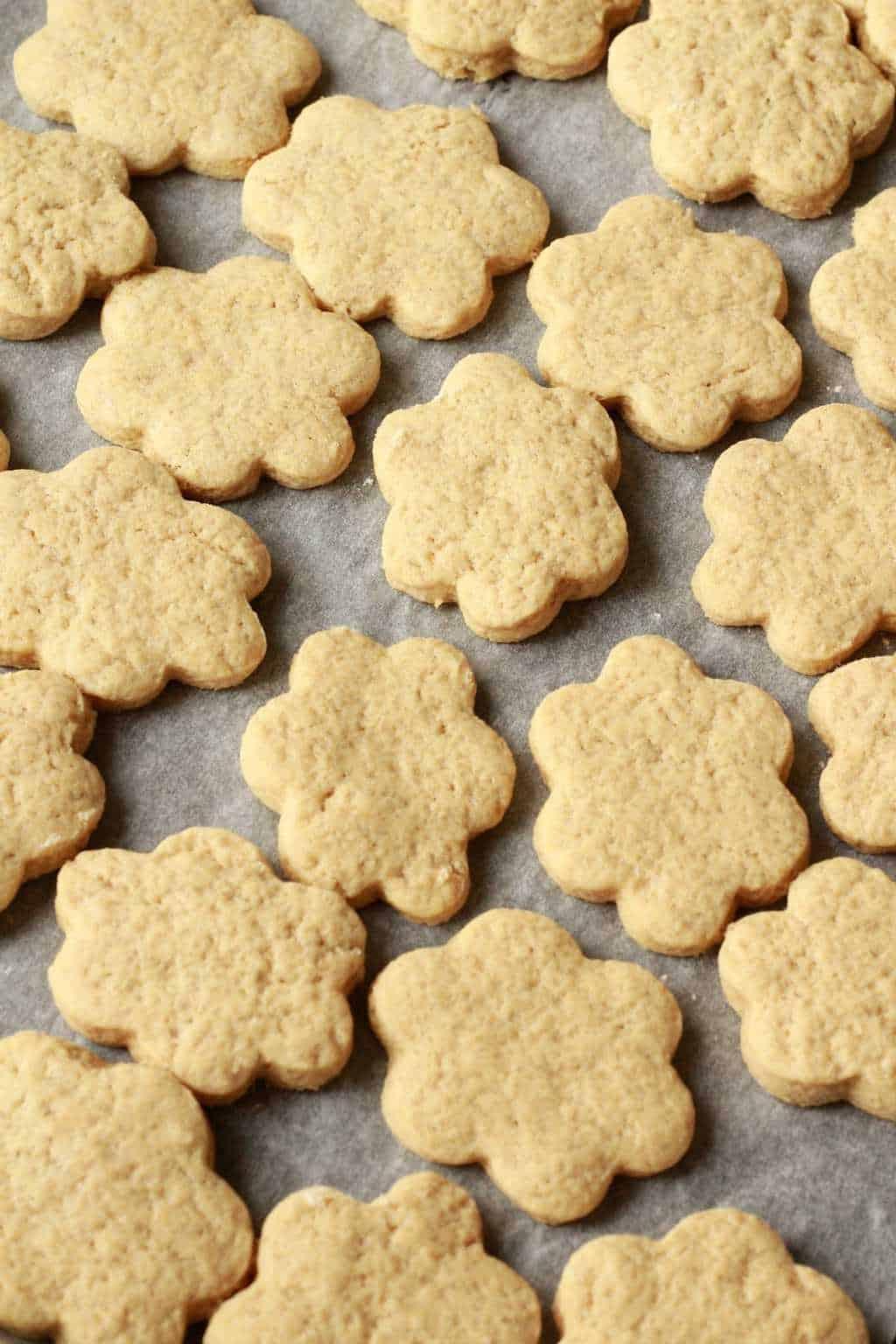 Making vegan sugar cookies. Perfect for any occasion! #vegan #lovingitvegan #dessert #cookies #sugarcookies