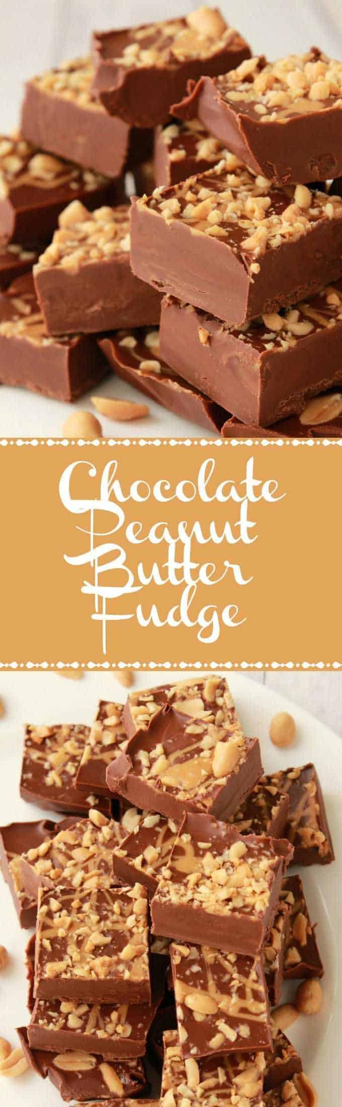 Chocolate Peanut Butter Fudge. Vegan and Gluten-Free. Vegan | Vegan Desserts | Gluten-Free | Gluten-Free Desserts | Vegan Recipes