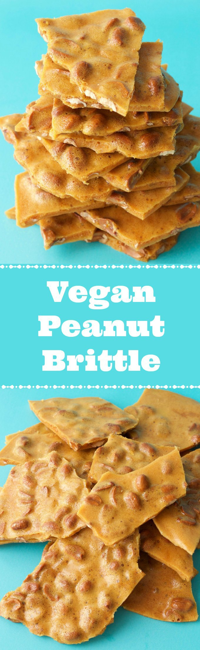 Deliciously sweet and crunchy vegan peanut brittle. This fabulous homemade peanut brittle is slightly salty, packed with peanuts and wonderful as a dessert. Vegan | Vegan Desserts | Gluten-Free | Gluten Free Vegan | Dairy Free | Vegan Recipes | Vegan Candy | lovingitvegan.com