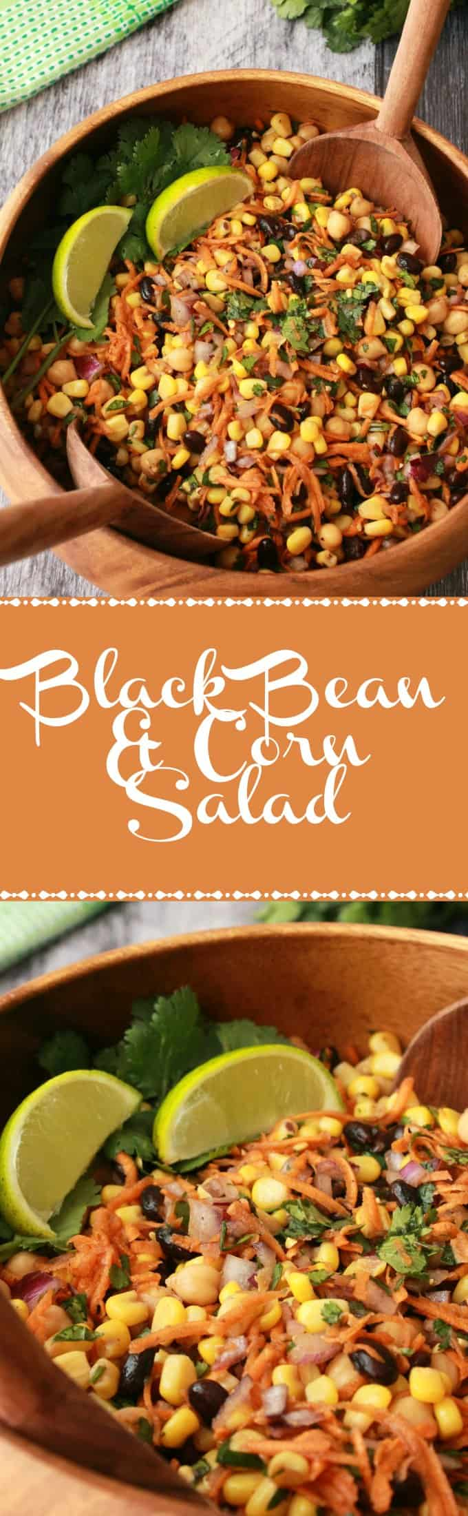 Colorful and flavorful black bean and corn salad. This salad is nutritious and filling as well as being vegan and gluten-free! | lovingitvegan.com