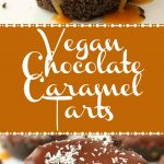 Vegan No-Bake Chocolate Caramel Tarts