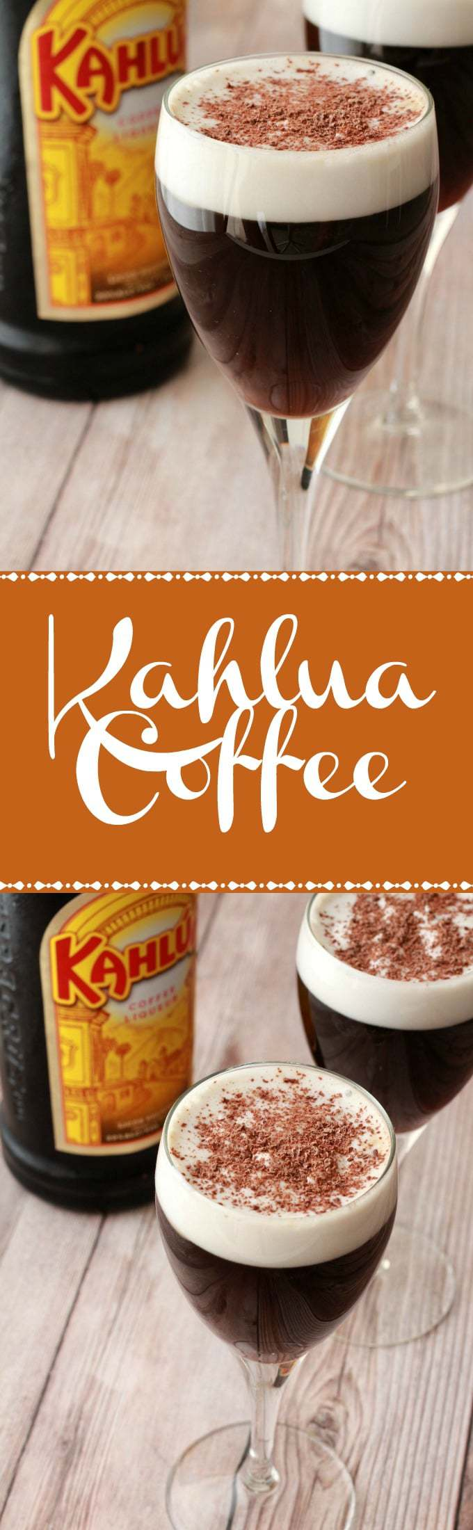 Kahlua coffee is the perfect after-dinner drink. Just like an Irish coffee but with kahlua instead of whiskey for an all-in-one dessert, coffee & cocktail. Vegan | Vegan Drinks | Vegan Recipes | lovingitvegan.com