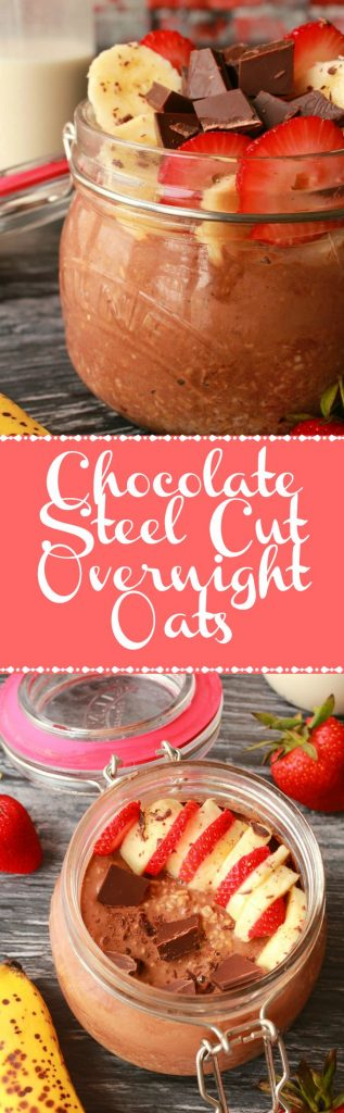 Chocolate Steel Cut Overnight Oats