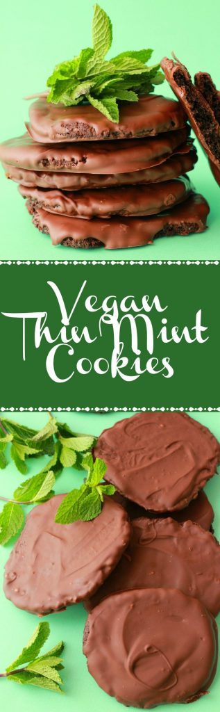 Vegan Thin Mint Cookies