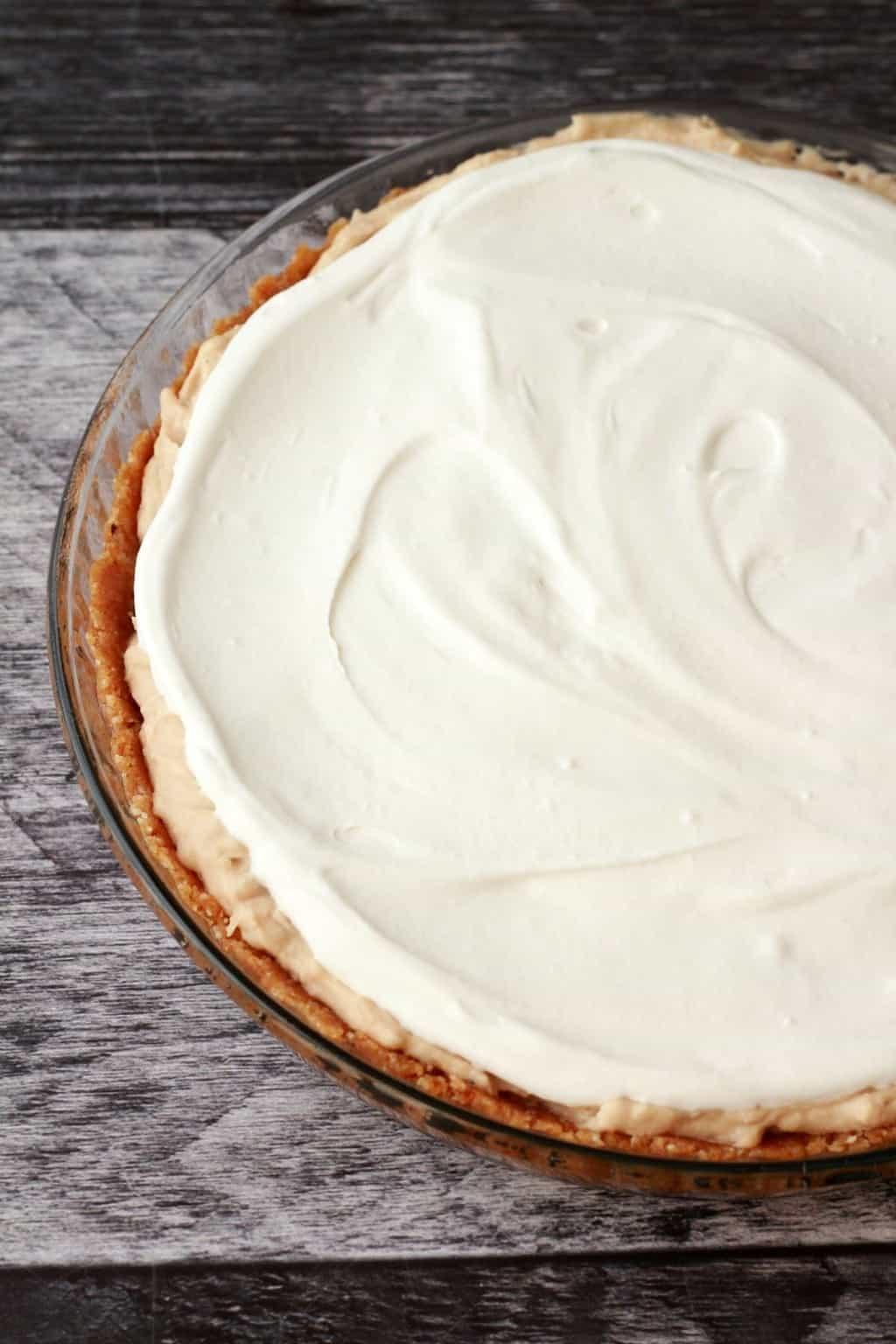 Making a Vegan Coconut Cream Pie. Gluten-Free. #vegan #lovingitvegan #dessert #pie