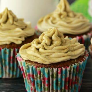 Vegan Matcha Green Tea Cupcakes