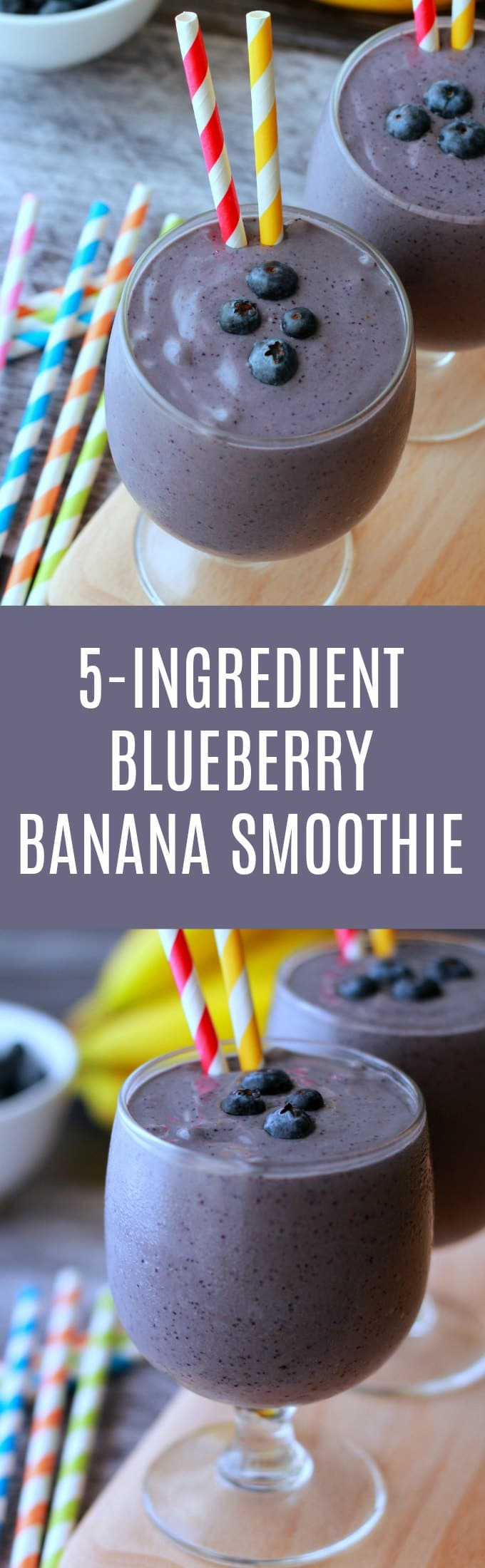 Creamy blueberry banana smoothie with peanut butter! 5-ingredients, ready in 10 minutes and perfect as a breakfast power shake! Vegan and Gluten-free. Vegan | Smoothies | Vegan Smoothies | Vegan Recipes | Vegan Breakfast | Gluten-Free Vegan | lovingitvegan.com