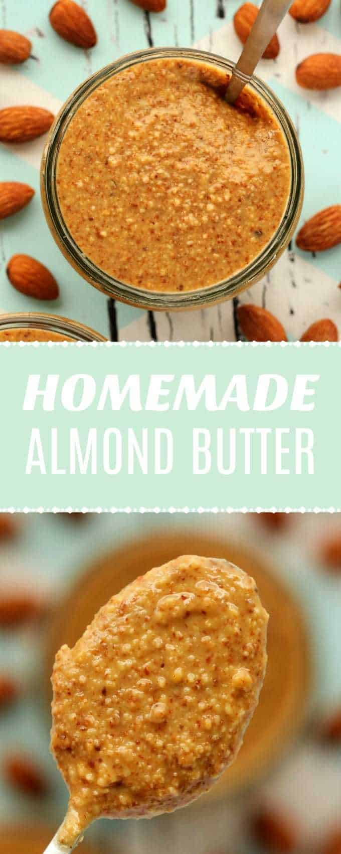 How to make almond butter. Easy 2-ingredient recipe for homemade almond butter, ready in 10 minutes! Vegan and gluten-free. | lovingitvegan.com