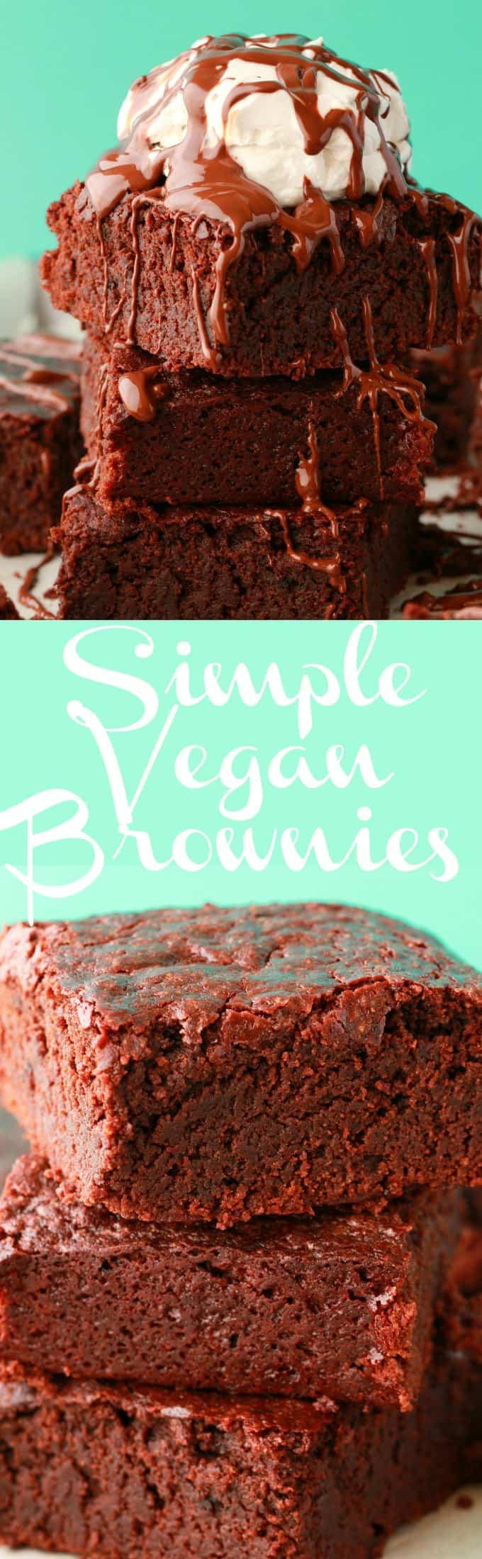 Super moist, fudgy and beautifully textured vegan brownies. Rich, decadent and delightful! Serve with vegan cream or ice cream for a fabulous dessert. | lovingitvegan.com
