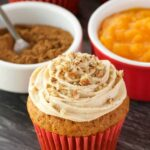 Vegan Pumpkin Cupcakes with Pumpkin Spice Frosting
