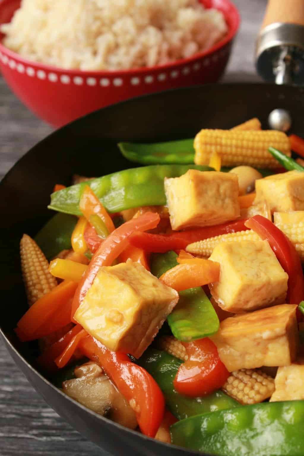 Tofu Stir Fry with Brown Rice