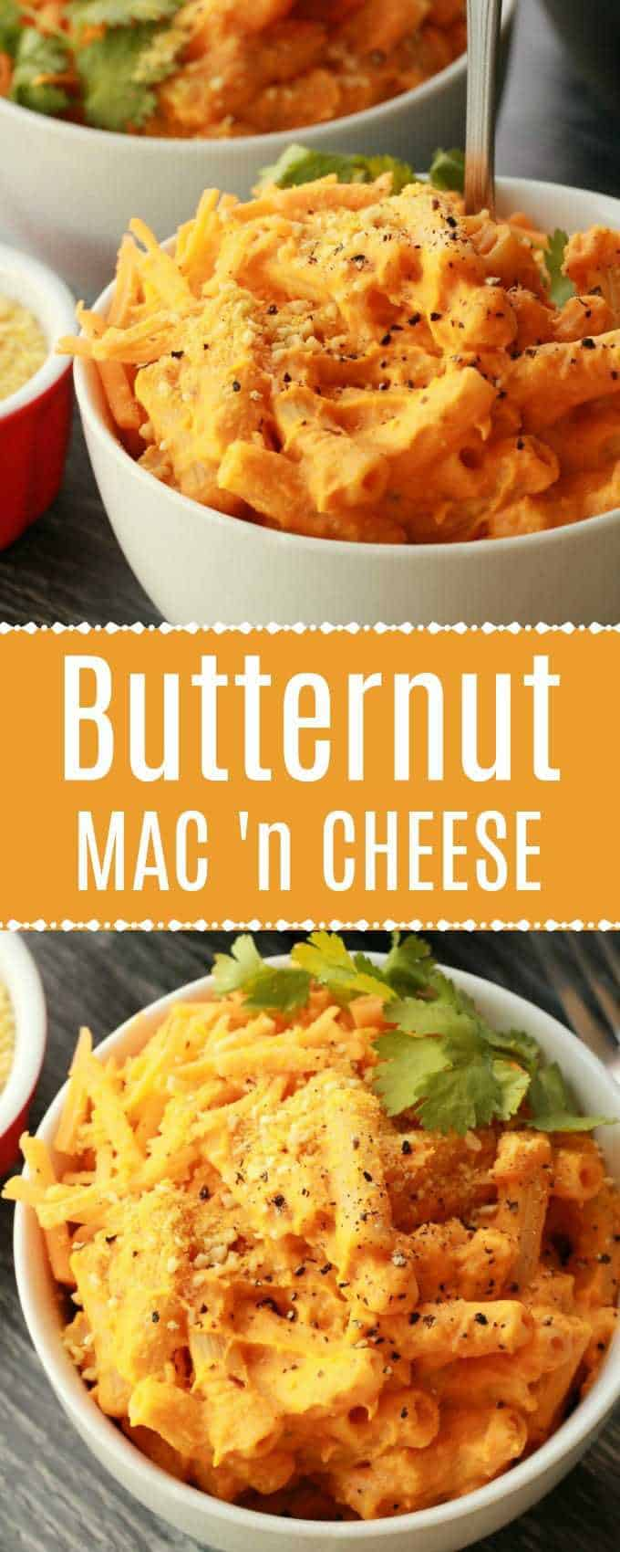 Fabulously cheesy vegan butternut squash mac and cheese. Perfect comfort food, this saucy and deliciously flavored dish is super easy and so satisfying. #vegan #veganrecipes | lovingitvegan.com