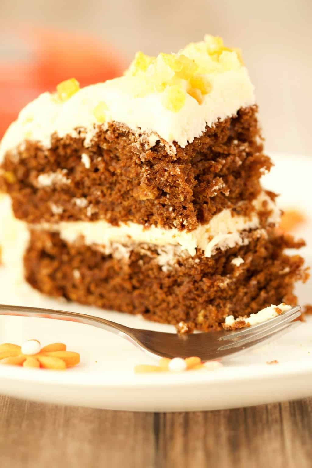 Gingerbread Cake With Orange Frosting Loving It Vegan