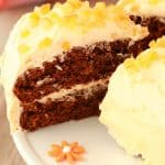 Gingerbread Cake with Orange Frosting