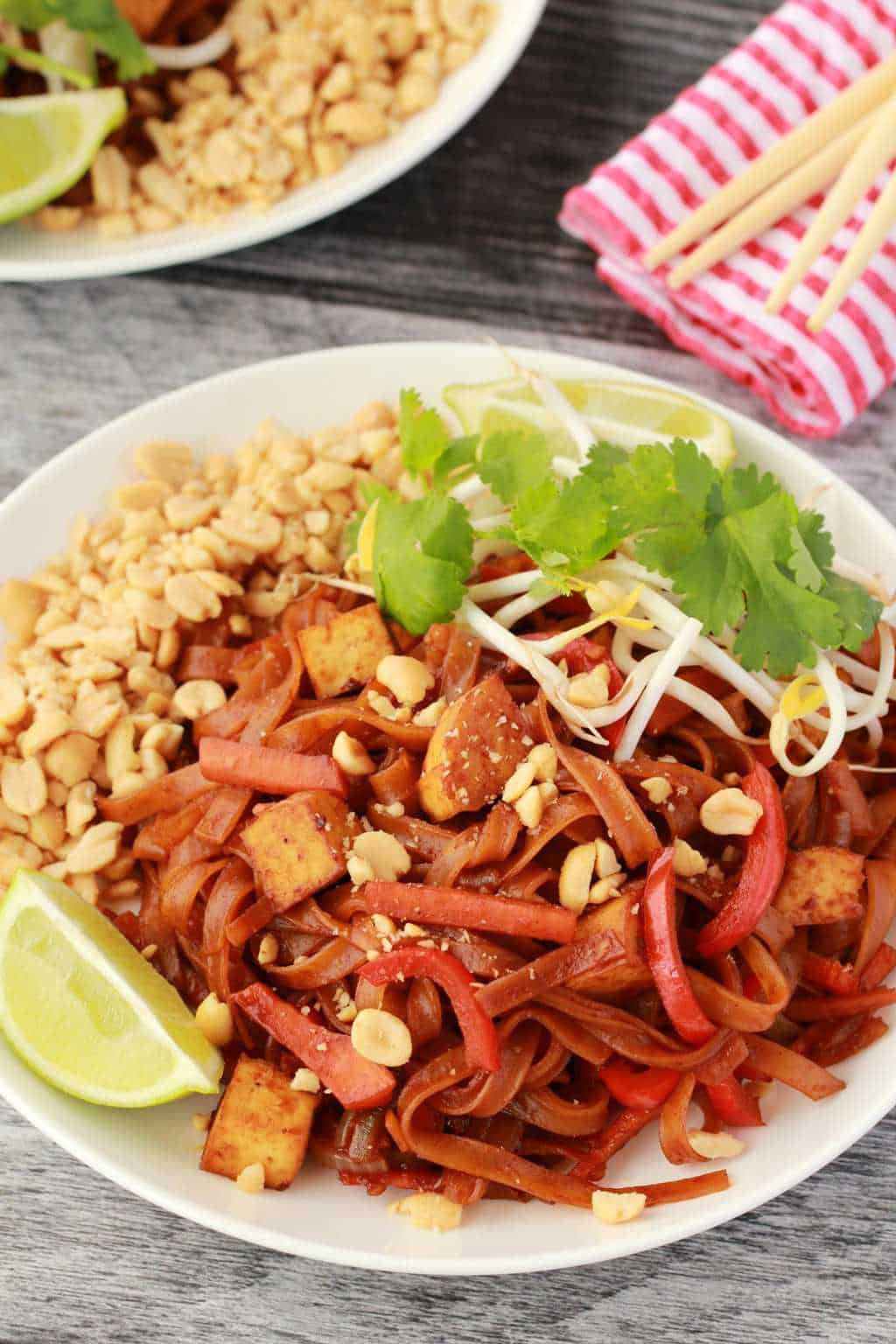 Vegan Pad Thai with Tofu (Gluten-Free)