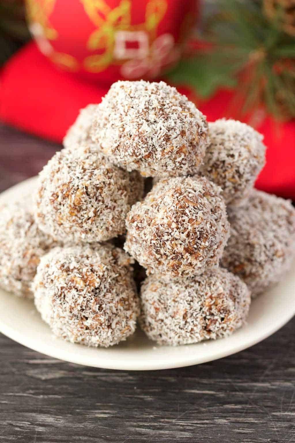 No Bake Chocolate Coconut Snowballs Vegan And Gluten Free