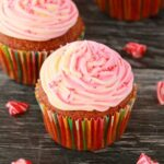 Vegan Peppermint Cupcakes with Pink Swirl Peppermint Frosting