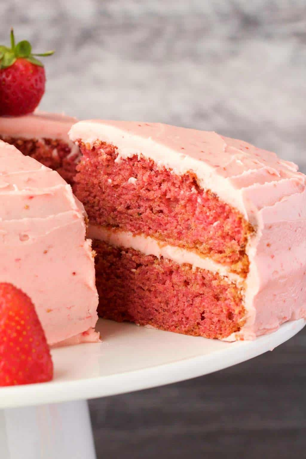 Best Strawberry Cake And Frosting