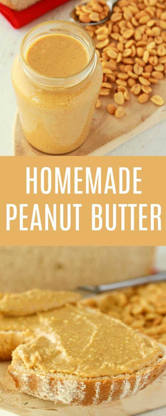 Creamy, wholesome and homemade peanut butter. Perfectly spreadable, spoonable and deliciously salty with a hint of sweet. Super easy and fun to make! #vegan #lovingitvegan #homemade #peanutbutter #glutenfree #dairyfree #nutbutter | lovingitvegan.com