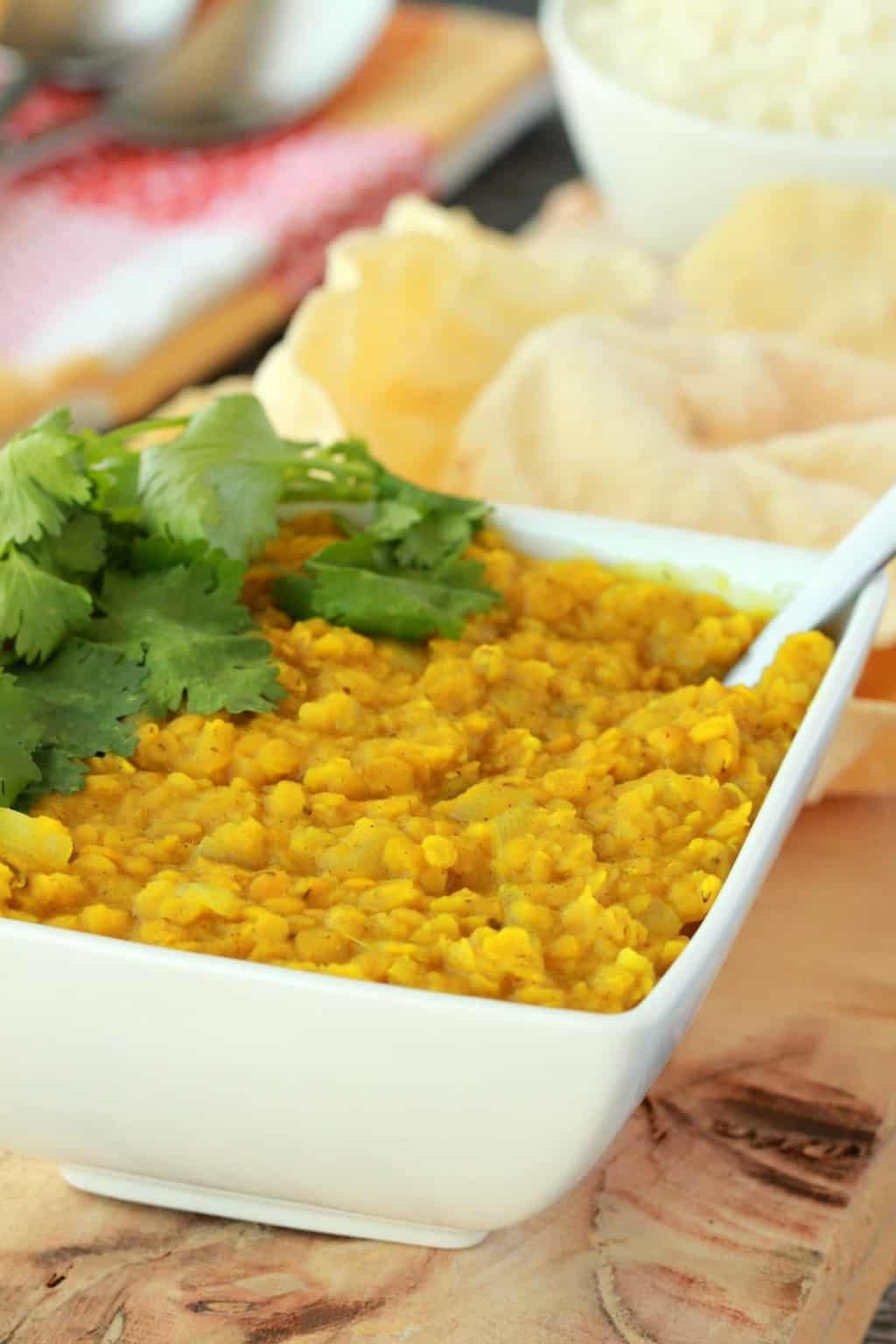 Creamy Coconut Red Lentil Dal - Loving It Vegan