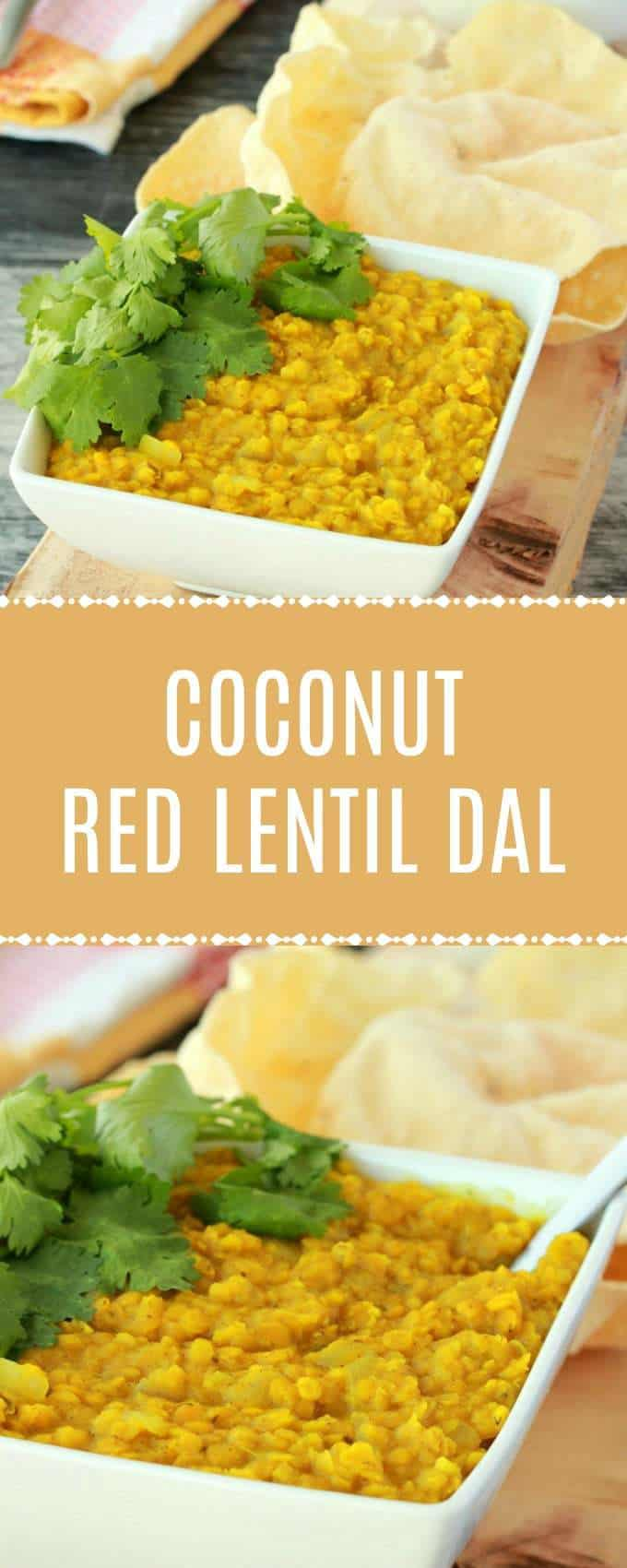 Creamy and ultra satisfying coconut and red lentil dal. This delicious plant-based entree is high in protein, perfectly spiced and highly flavorful. Vegan and gluten-free. #vegan #lovingitvegan #lentildal #entree #vegandinner #glutenfree | lovingitvegan.com