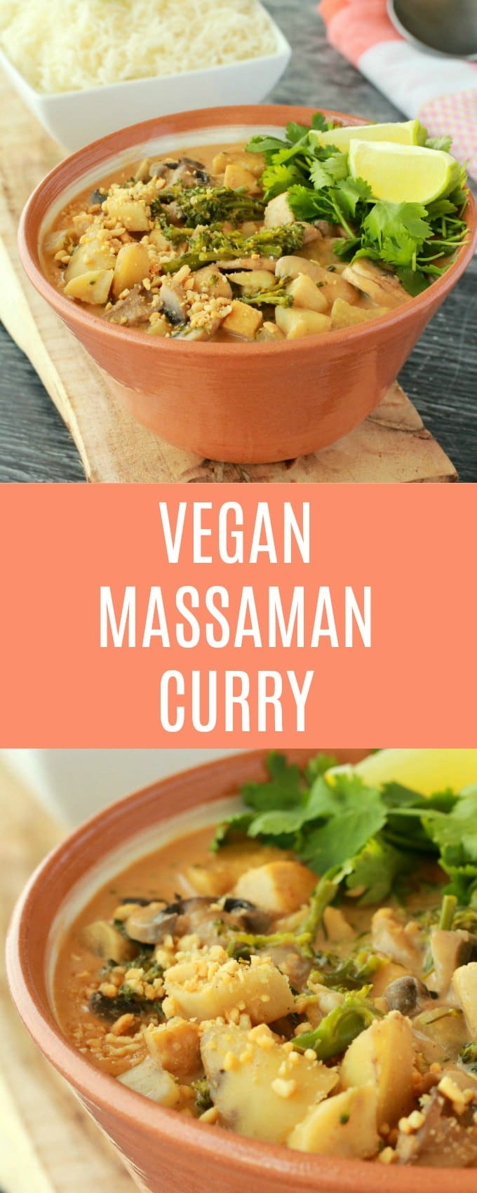 Super rich and decadent vegan massaman curry. A deliciously spicy curry with sweet potatoes, vegetables and tofu in a base of coconut milk and spices. Ultra creamy and completely satisfying. #vegan #lovingitvegan #vegandinner #vegancurry #glutenfree #dairyfree | lovingitvegan.com