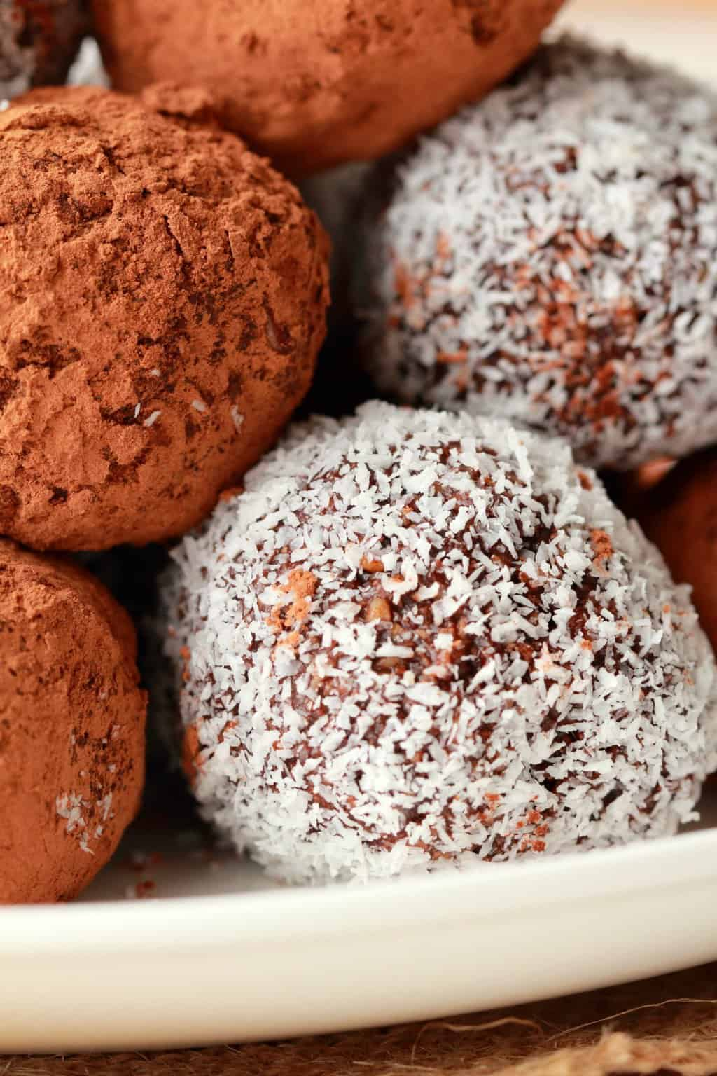 Easy No Bake Vegan Truffles Loving It Vegan