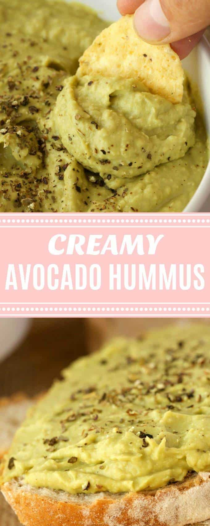 Creamy and smooth avocado hummus. This delicious cross between guacamole and hummus is highly nutritious and makes a perfect dip or spread! Vegan and gluten-free. | lovingitvegan.com