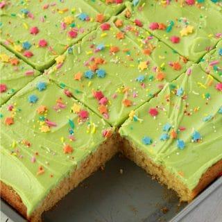 Vegan Vanilla Sheet Cake