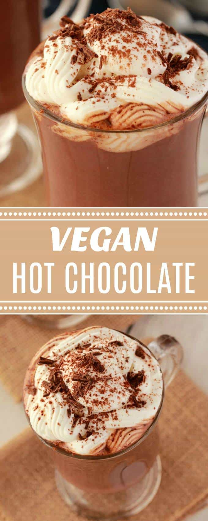 Rich and delicious vegan hot chocolate - warm, comforting and satisfying this is more than a drink, this is dessert in a mug! Perfect for cold nights, when there's a nip in the air, or even if there's just a bit of a breeze outside! #vegan #dairyfree #glutenfree | lovingitvegan.com