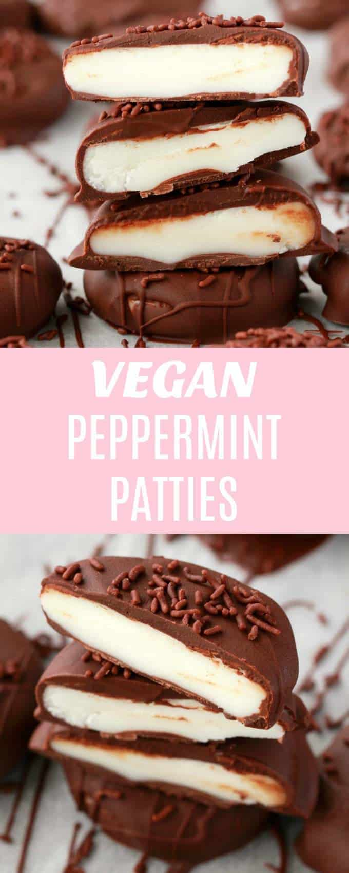Perfectly textured melt-in-the-mouth vegan peppermint patties! These creamy, dreamy peppermint desserts are so easy and fun to make and they're so good you'll want to have a permanent stash of these in your fridge! | lovingitvegan.com