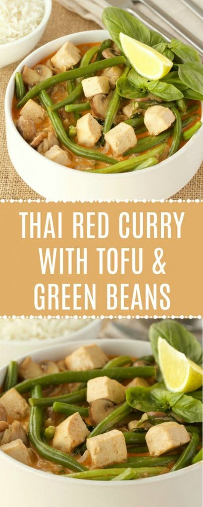Thai red curry with green beans and tofu.