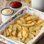 Baked Potato Fries – Garlicky and Delicious!