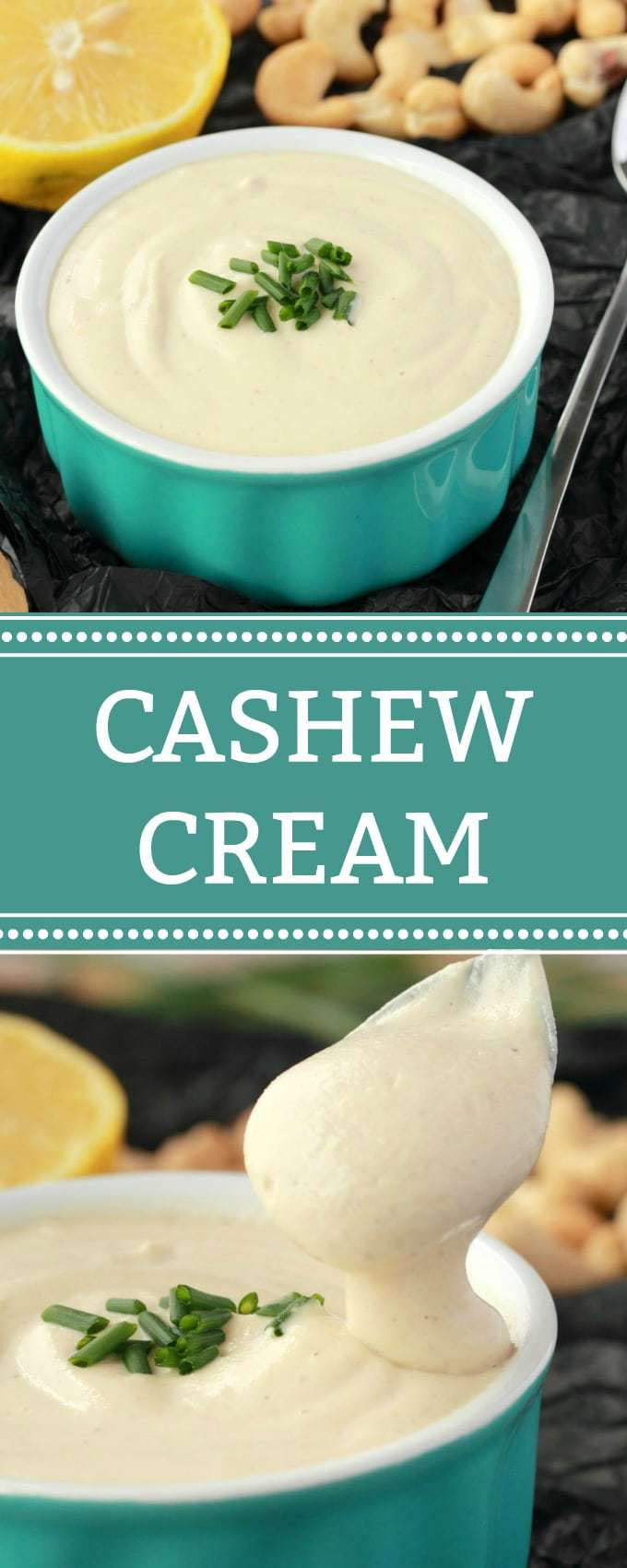 This creamy and delicious 4-ingredient simple vegan cashew cream is great with absolutely everything! It's the perfect blank canvas for a vegan cream that you can flavor as you like, or have as is as the perfect cream substitute. | lovingitvegan.com