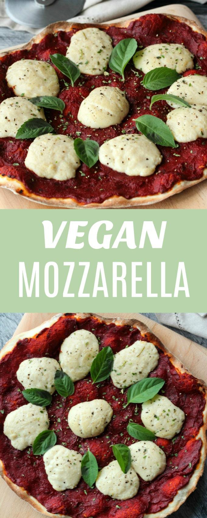 Stretchy melty and so cheesy you won't believe you made it yourself vegan mozzarella! Super easy, divine on pizza and inside grilled cheese sandwiches and wherever else gorgeous gooey mozzarella balls are needed! | lovingitvegan.com
