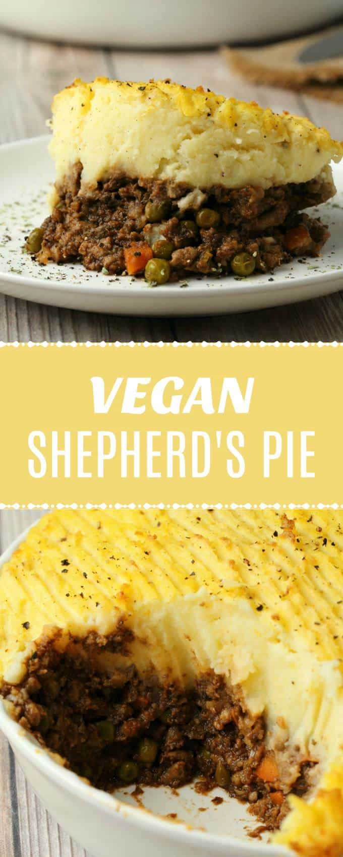 Filling and comforting vegan shepherd's pie made with a delicious veggie-packed veggie mince and creamy mashed potatoes. Perfect for a hearty and satisfying vegan dinner. | lovingitvegan.com