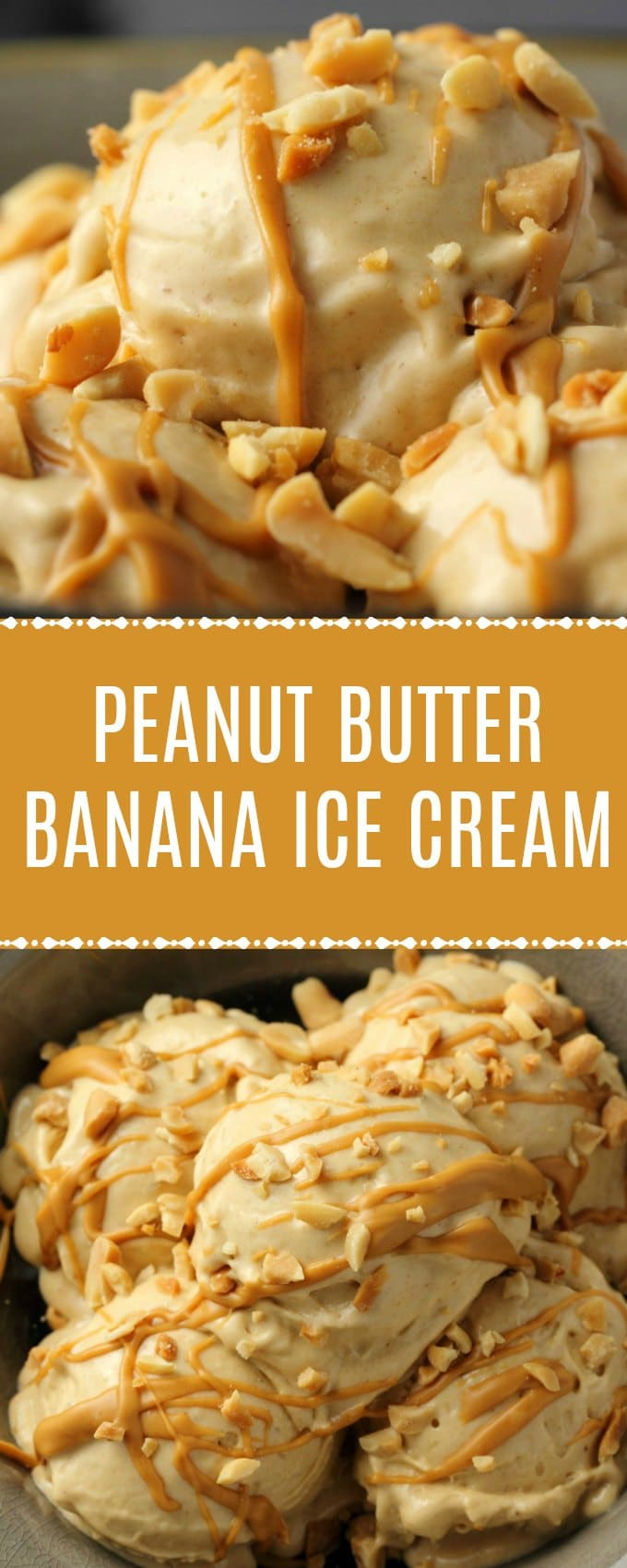 Smooth and velvety peanut butter banana ice cream, made with just 2-ingredients and a food processor! So good you'd never suspect it's healthy too! Simple, delicious, vegan and gluten-free. | lovingitvegan.com