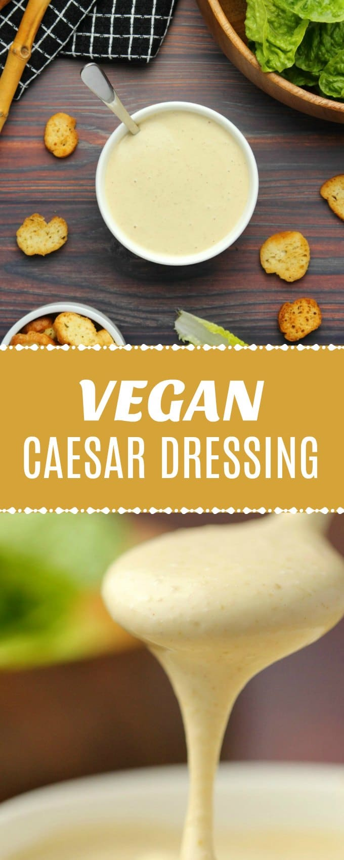 Creamy vegan caesar dressing that is ready in 5 minutes! Super simple, cheesy, garlicky and perfect as a dressing or dip. Gluten-Free | lovingitvegan.com