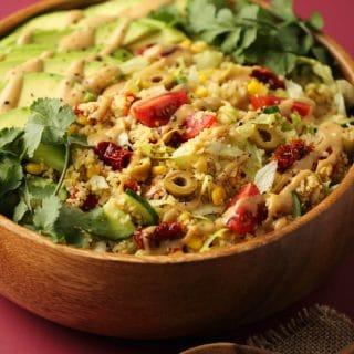 Vegan Couscous Salad with Tahini Dressing