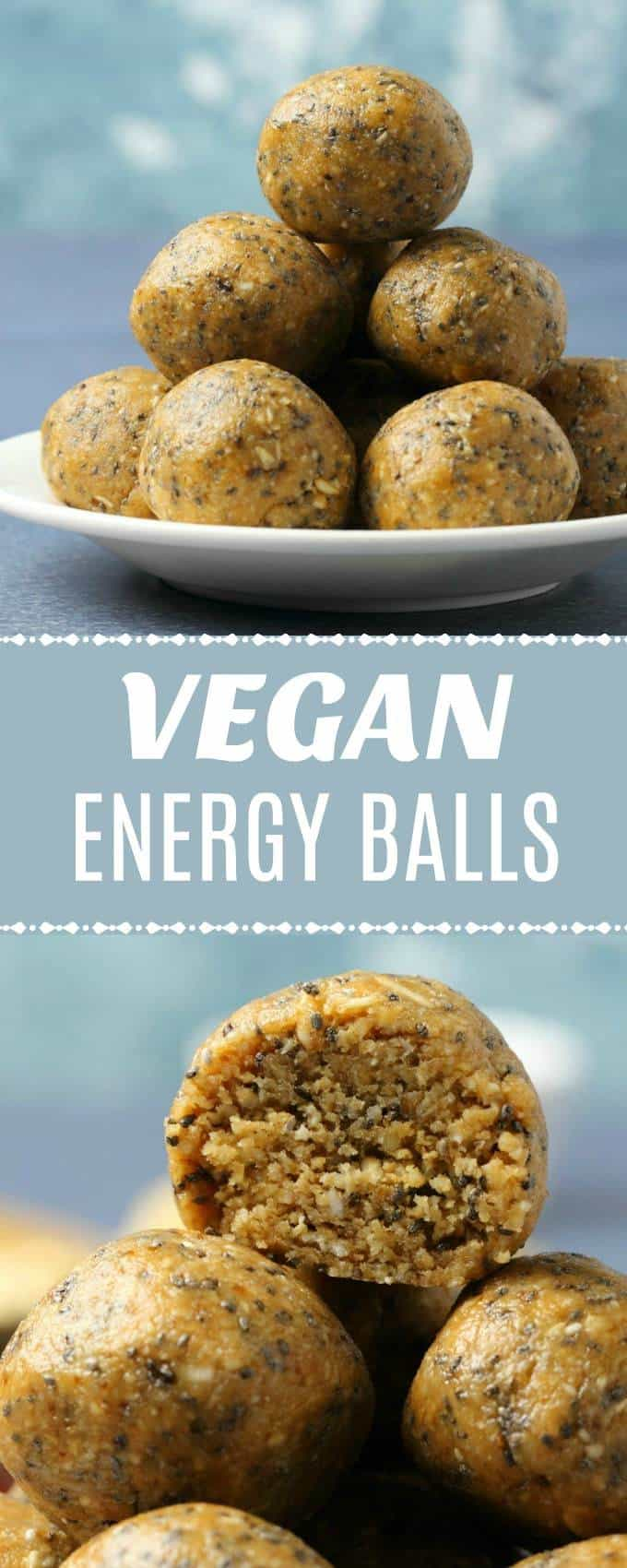 No-bake vegan energy balls made with 8-easy ingredients and ready in 15 minutes! Bite-sized and perfect for a healthy snack. Gluten-Free. | lovingitvegan.com