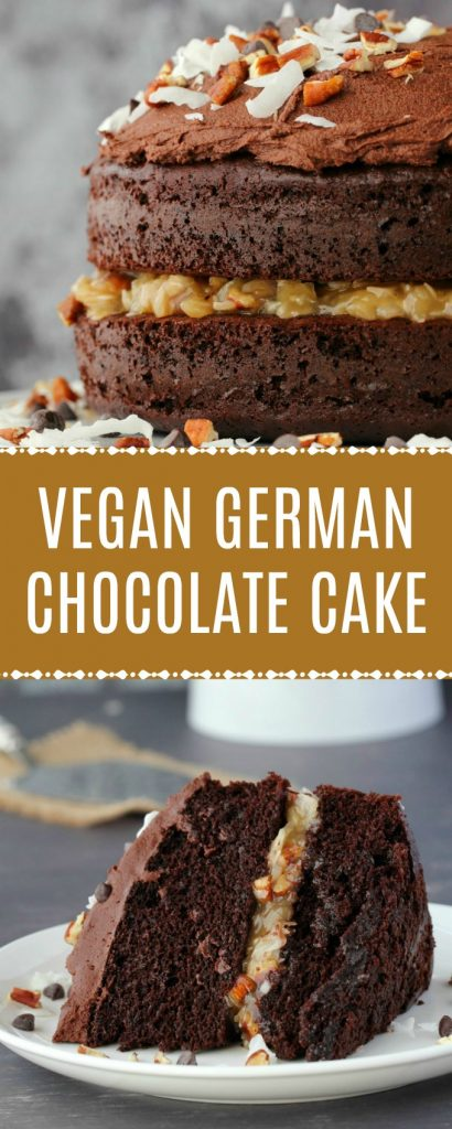 Vegan German Chocolate Cake