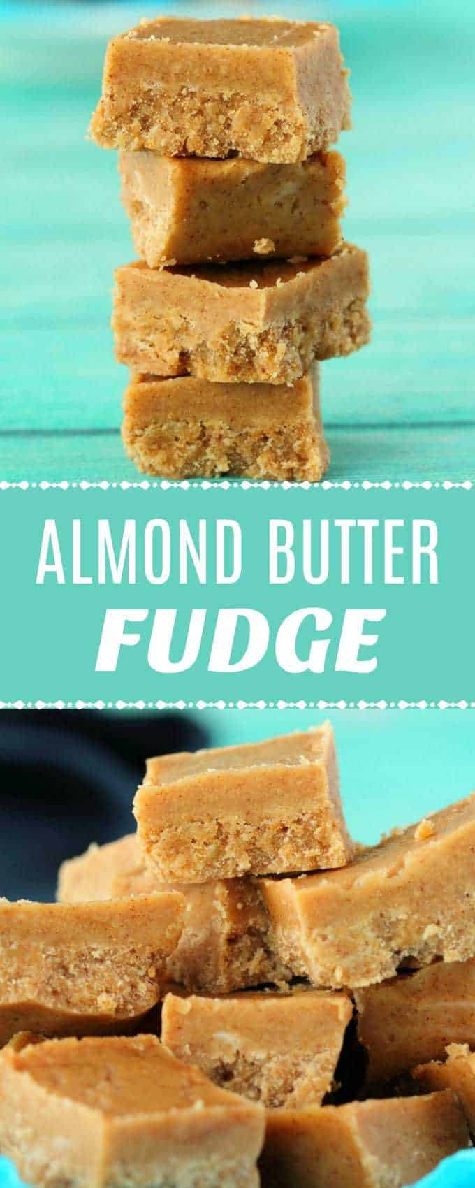 Super easy 4-ingredient almond butter fudge. Deliciously rich, creamy and smooth and you can make it in minutes! Vegan and gluten-free. | lovingitvegan.com