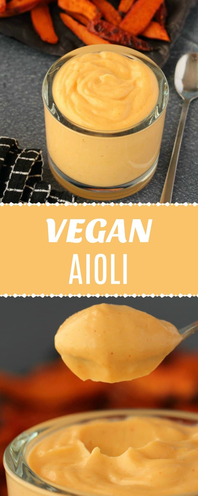 Creamy and garlicky vegan aioli made with simple ingredients and ready in a few minutes. Delicious as a dip, dressing, spread or topping! | lovingitvegan.com