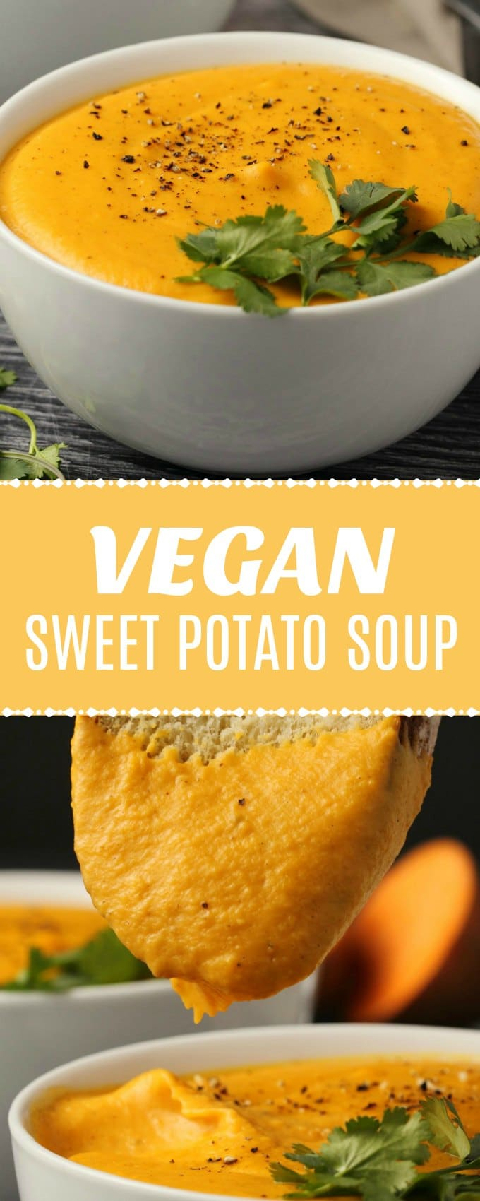 Rich and fabulously creamy vegan sweet potato soup. Hearty and filling, this super easy vegan soup makes wonderful comfort food!  | lovingitvegan.com