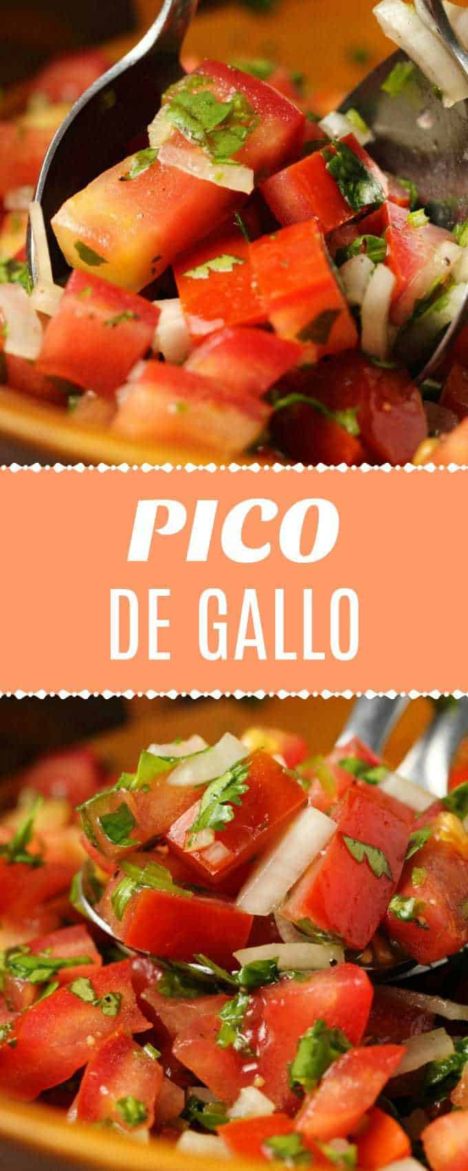 Deliciously fresh pico de gallo! This salsa is fast and easy and makes a delicious topping or dip and is a perfect side to all your favorite Mexican food. | lovingitvegan.com