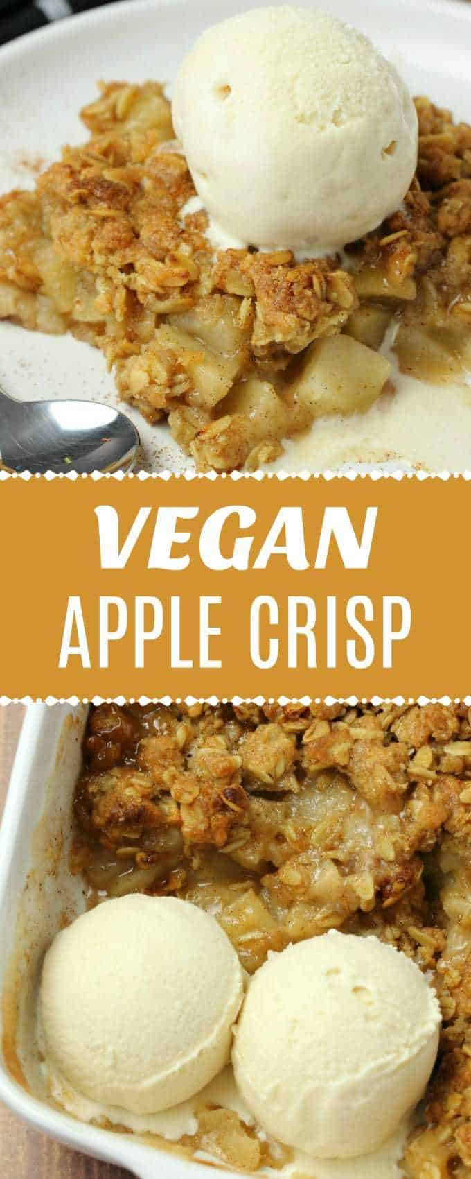 This vegan apple crisp is totally divine served warm with some vegan cream or vegan vanilla ice cream. It's deliciously flavorful and perfect for the holidays. | lovingitvegan.com
